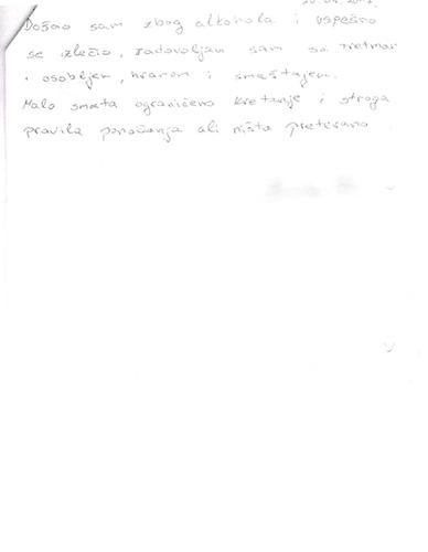 Utisci pacijenta 17-Anketa
